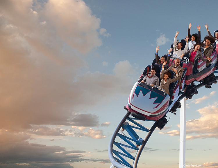 Roller Coasters, Business And Stock Photos