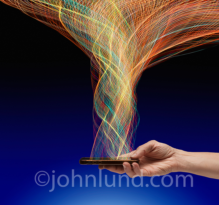A Mobile Connection and Networking Stock Photo