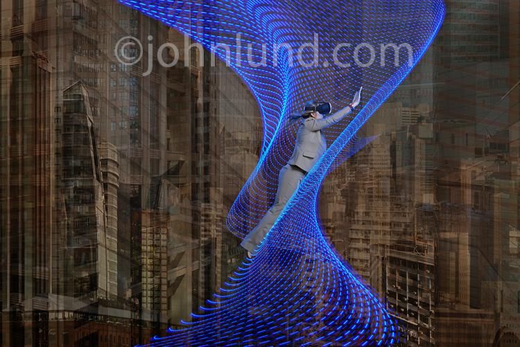 Virtual Reality Business Stock Photo