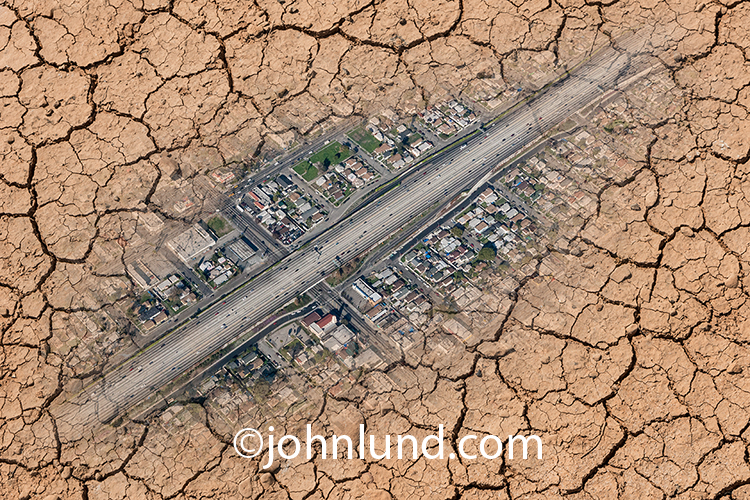 Aerial Urban Drought Image
