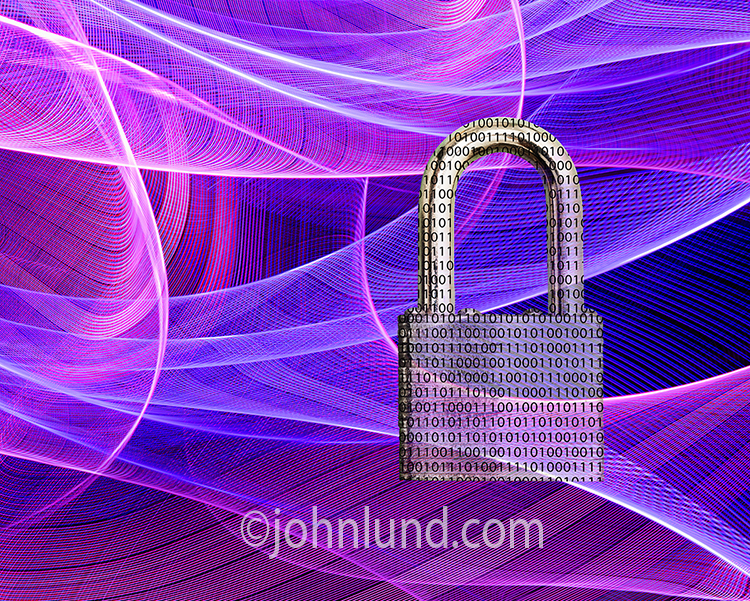 Binary Cyber Security Padlock