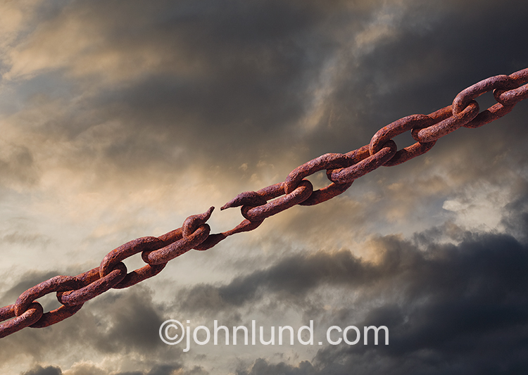 Weak Links And Breaking Rusty Chain