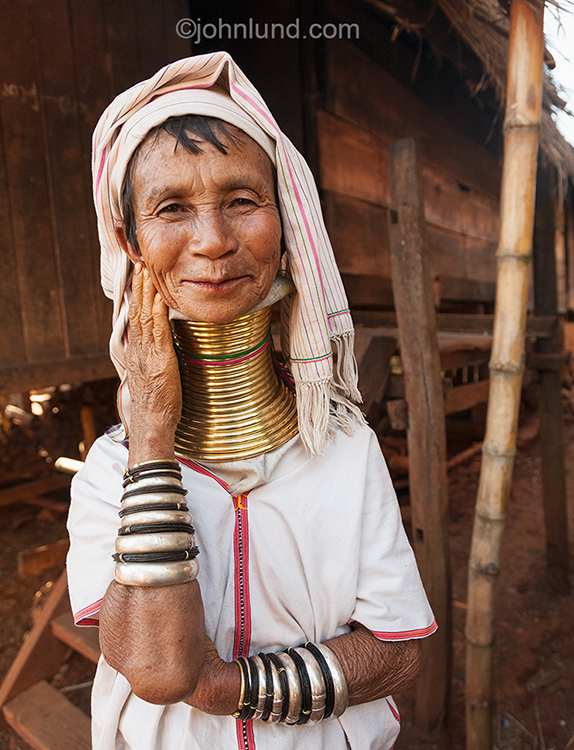 Burmese Tribal Woman With Neck Rings