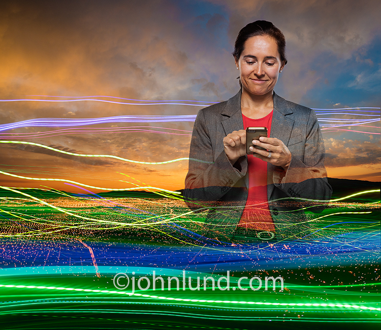 Business Woman Using Mobile Device