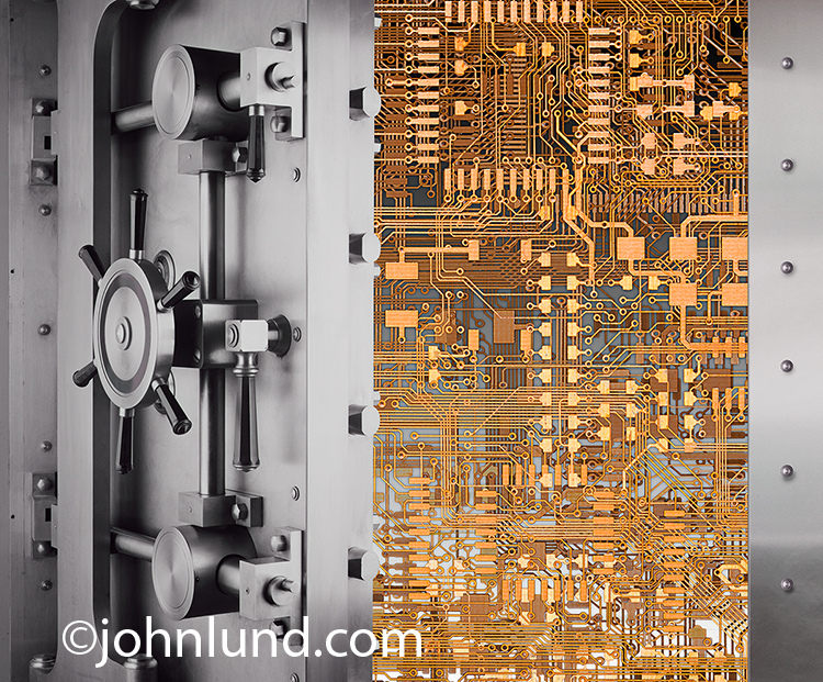 Computer Circuitry In A Bank Vault-Online Security