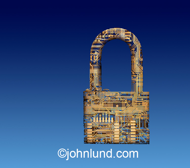 Cyber Security Padlock