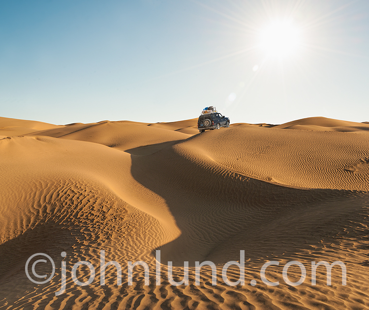 Four Wheeling On Desert Sand Dunes