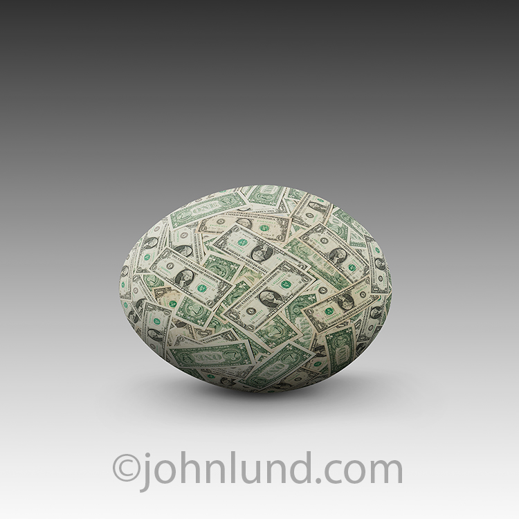 Investment Nest Egg Made Of Money
