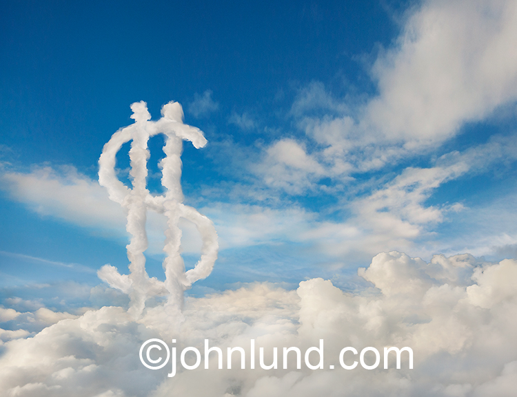 Dollar Sign In The Cloud