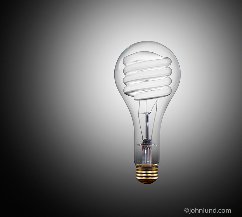 Energy Saving Bulb Within A Tungsten Bulb
