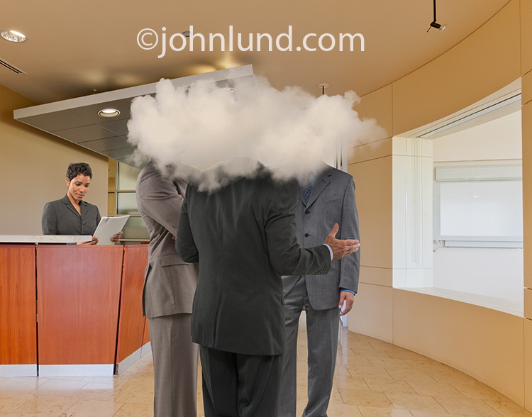 Executives With Heads In The Cloud