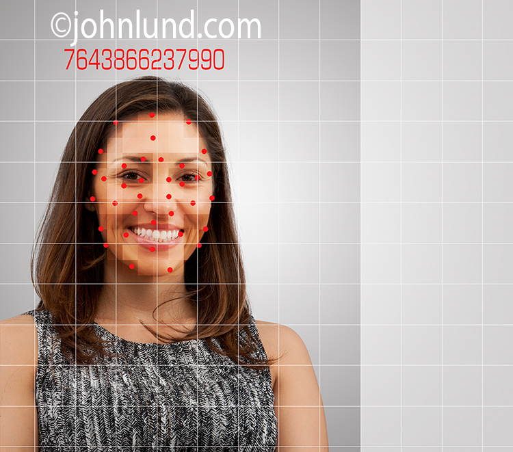 Facial Recognition Stock Photo