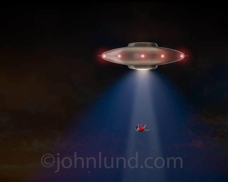 Flying Saucer Abduction