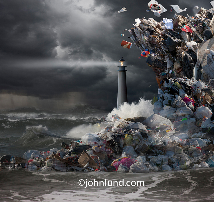 Garbage Tsunami Wave Photo