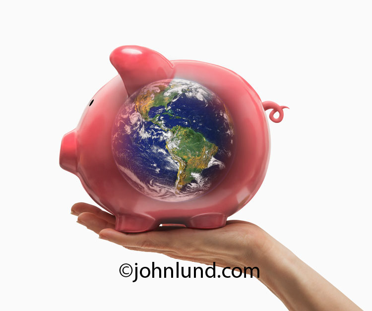 Green Investing Piggy Bank