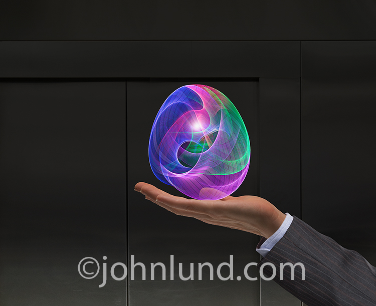 Future Technology Stock Photo-Light Orb