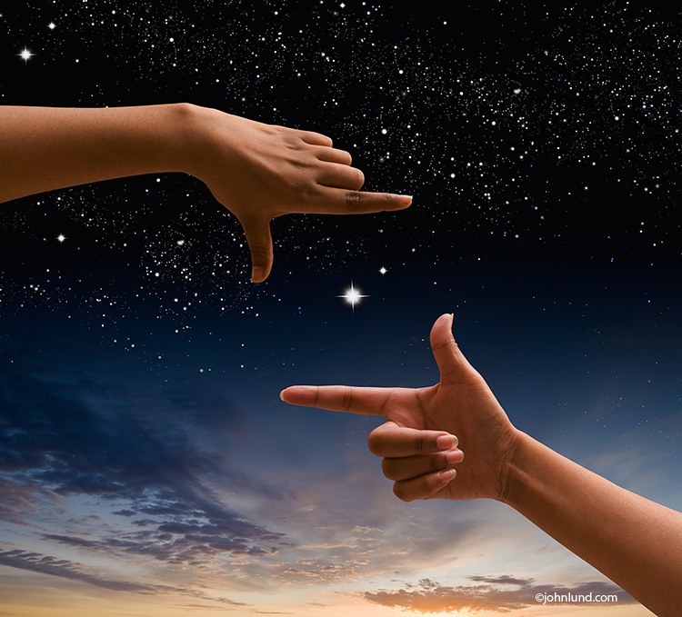 Hands Framing Stars: Exploration And Possibilities