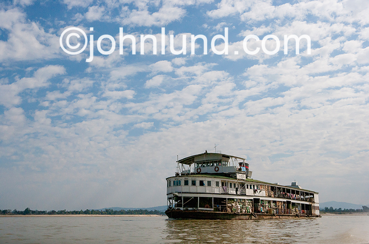 Ferry Boat On The Irrawaddy River, Myanmar