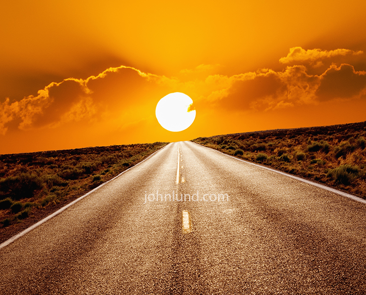 Long Road Sunset