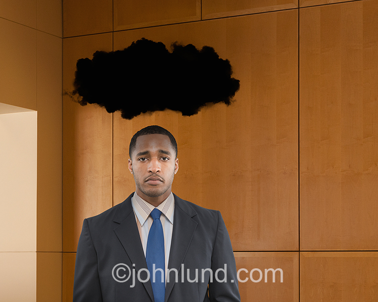Man Under Black Cloud