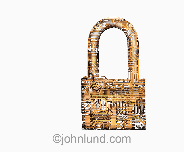 Network Security Padlock