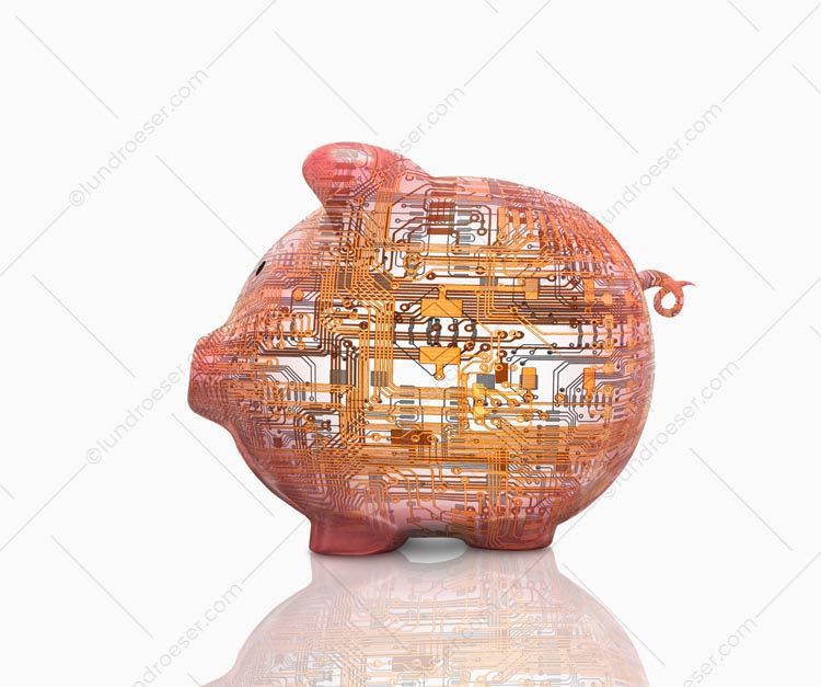 High Tech Piggy Bank Circuitry