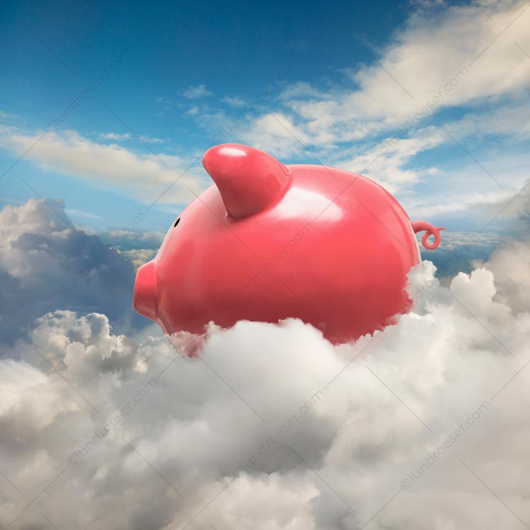 Piggy Bank In The Cloud