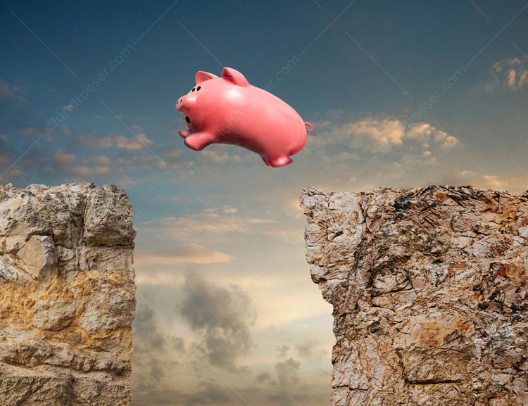 Piggy Bank Investment Leap