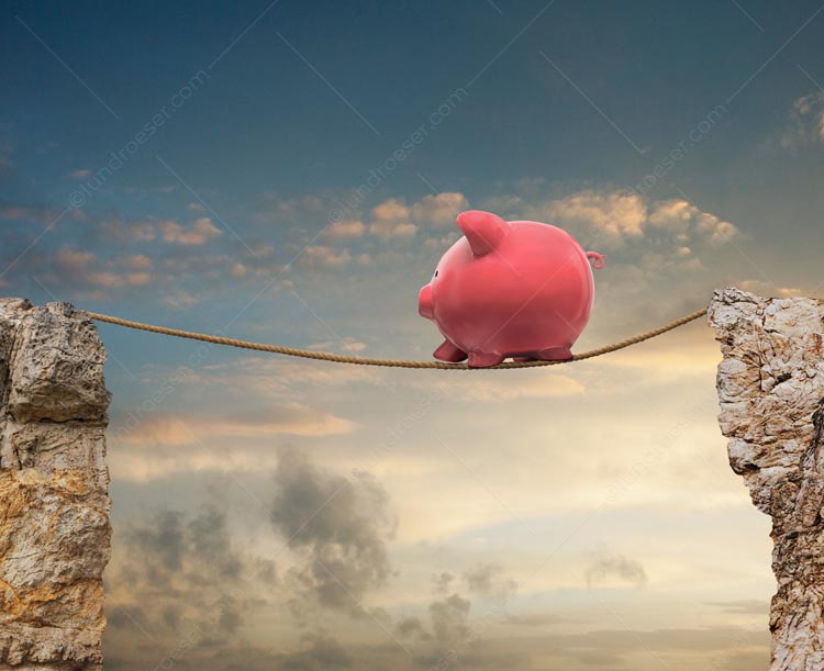 Piggy Bank Tightrope