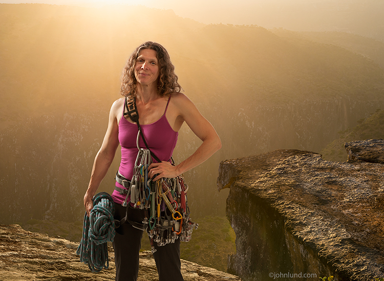 Portrait Of A Strong Woman Rock Climber