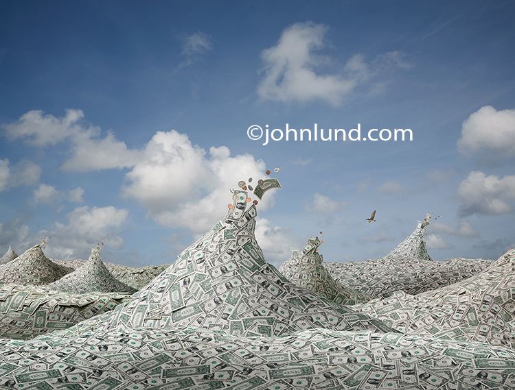 Money Picture of A Sea Of Dollars