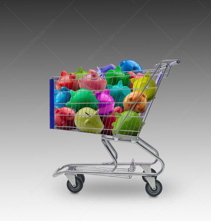Shopping Cart Piggy Bank