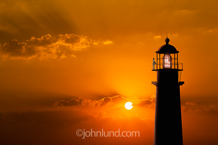 Sunset Lighthouse Keeper