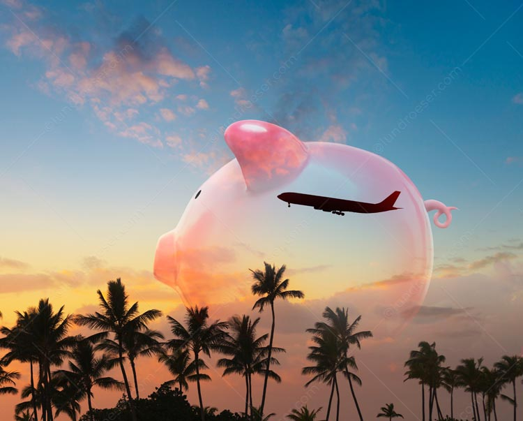 Tropical Vacation Piggy Bank