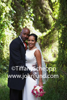 Lovely Black Bride and Groom Wedding Photo