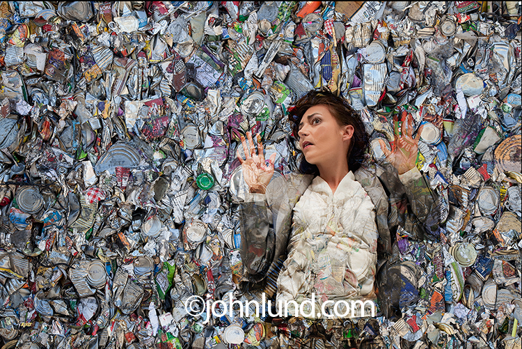 Environmental image Woman Compacted In Garbage