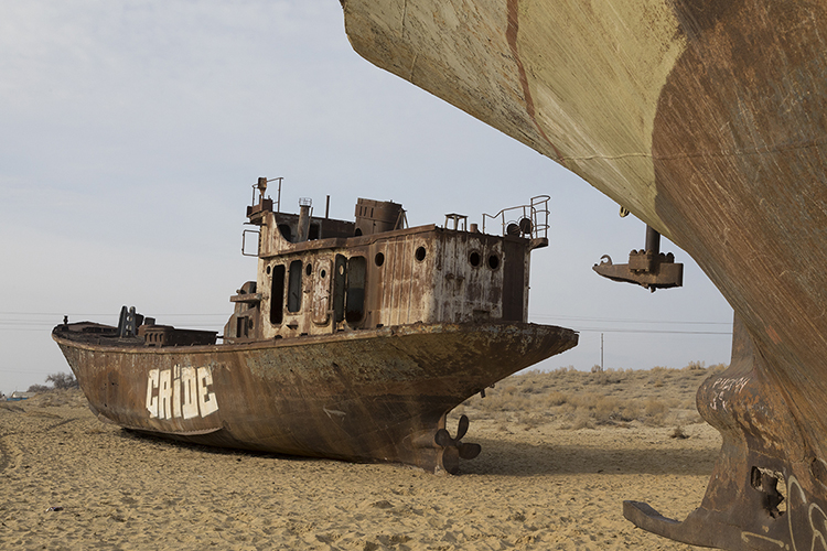 Stranded Ships At The Aral Sea