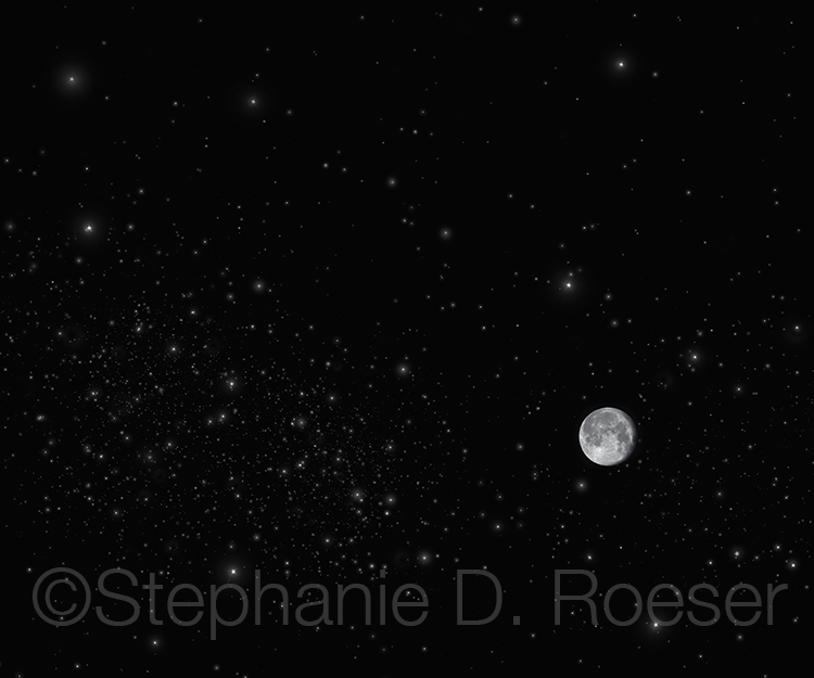 Moon In A Starfield