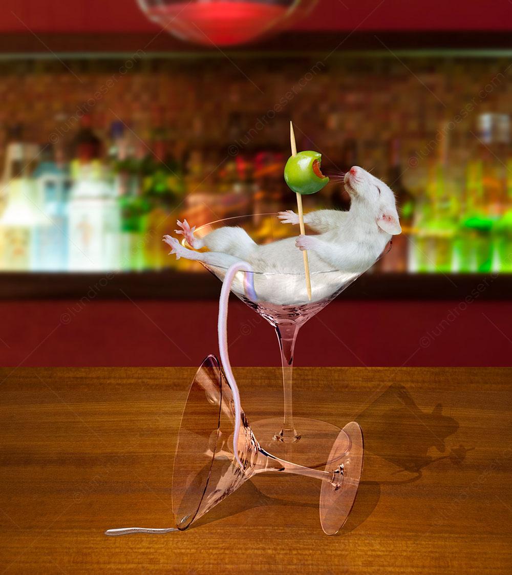Funny_Martini_Mouse_Photo