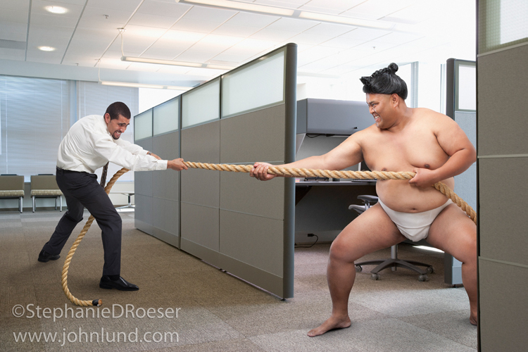 Sumo Wrestler Vs. Businessman